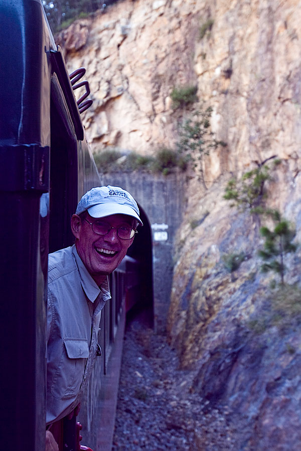 Dave on the Copper Canyon train