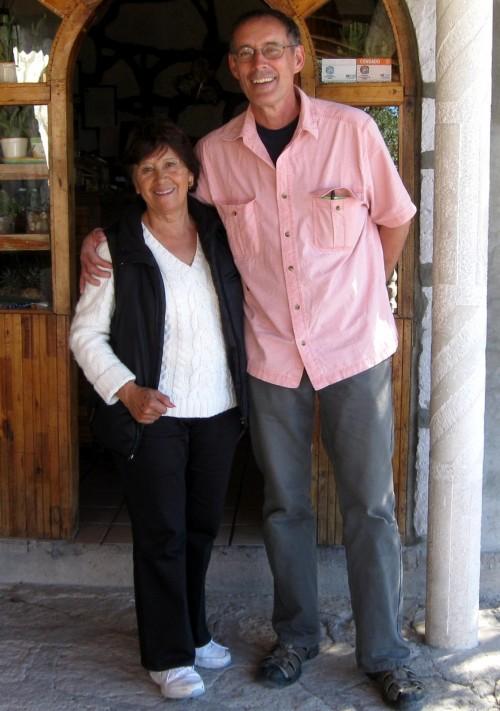 Dave with maria at Mansion Tarahumara in Arepo