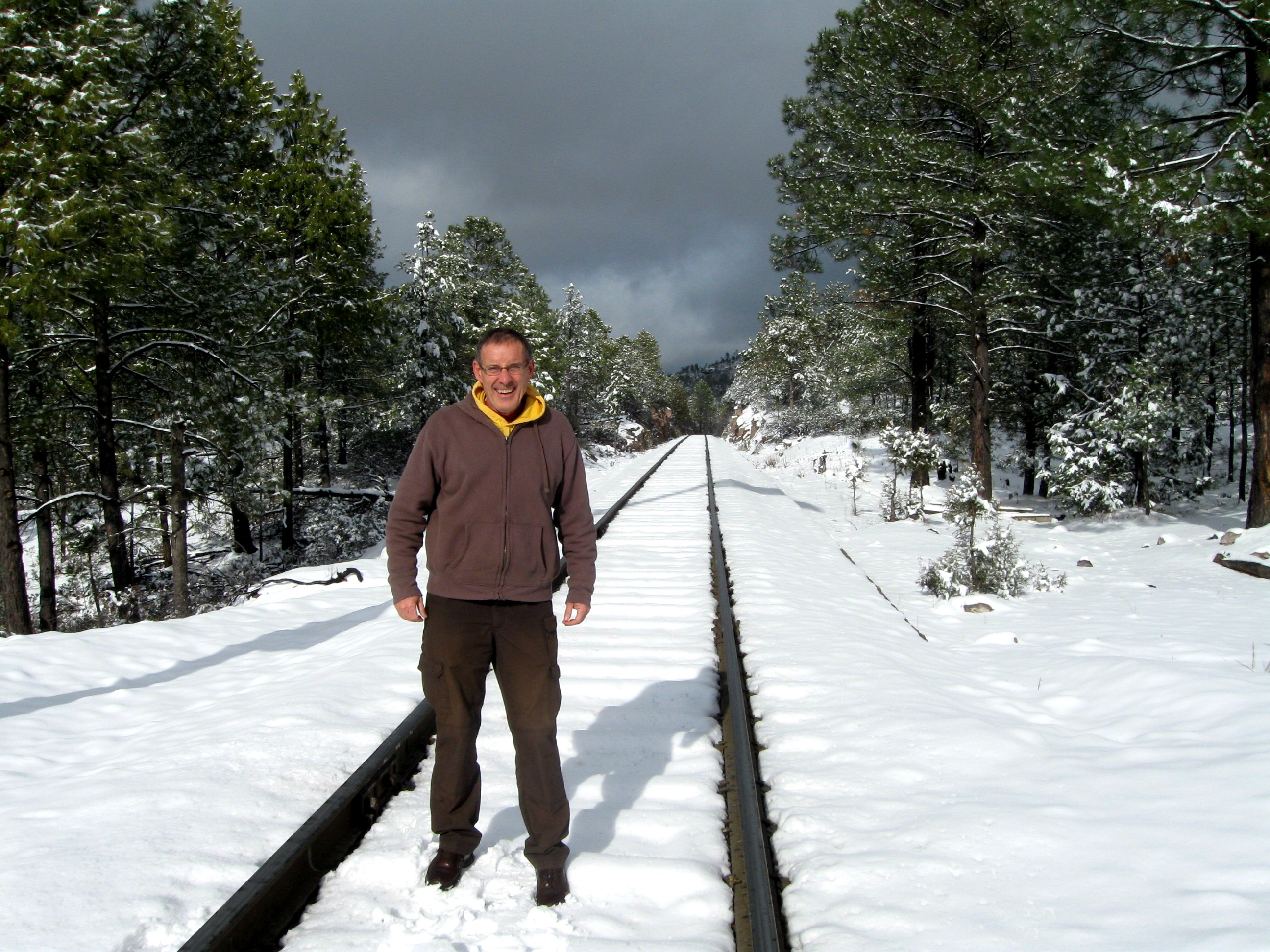 It snowed big time in January 2013 along the Copper Canyon train.